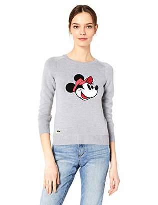 Lacoste Women's Long Sleeve Crewneck Disney Sweater