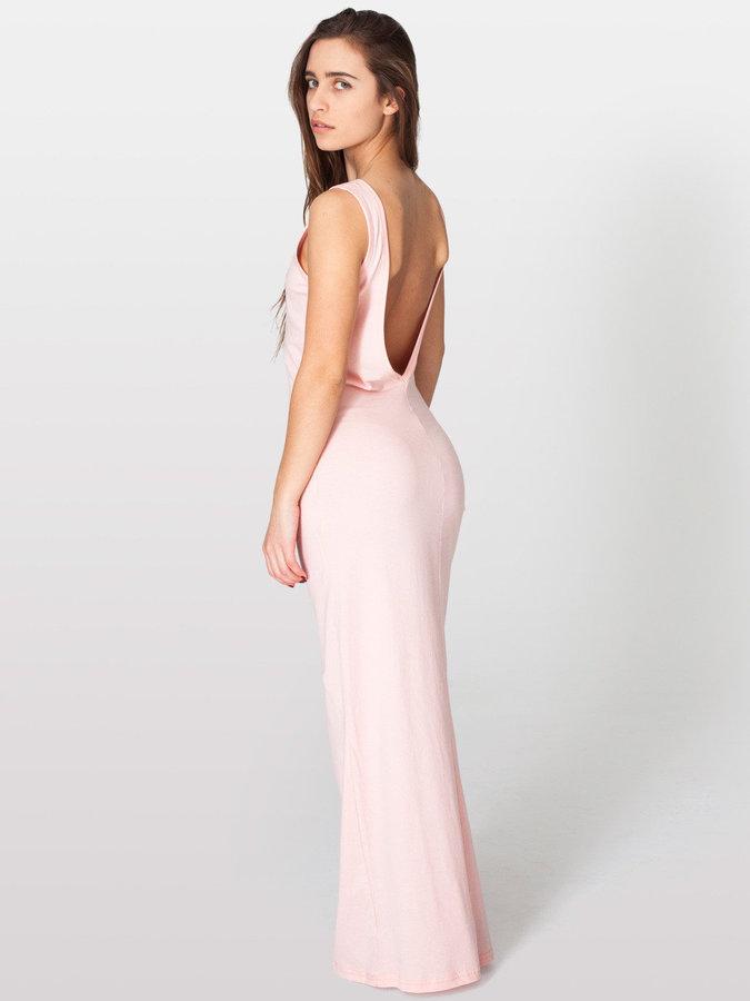 American Apparel Long Scoop Back Dress