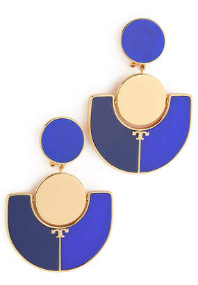 Tory Burch Art Deco Statement Clip On Earrings