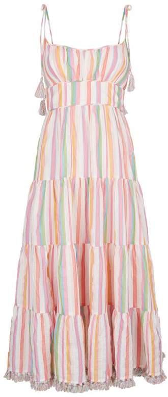 Heathers Stripe Tassel Midi Dress