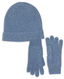 Cashmere Two-Piece Beanie & Gloves Set
