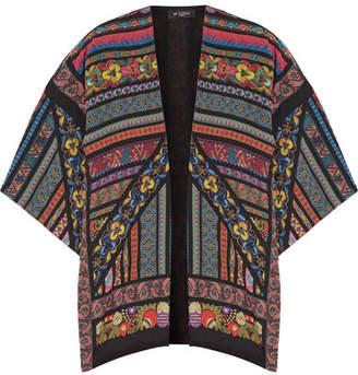 Etro Printed Silk Crepe De Chine Kimono - Black