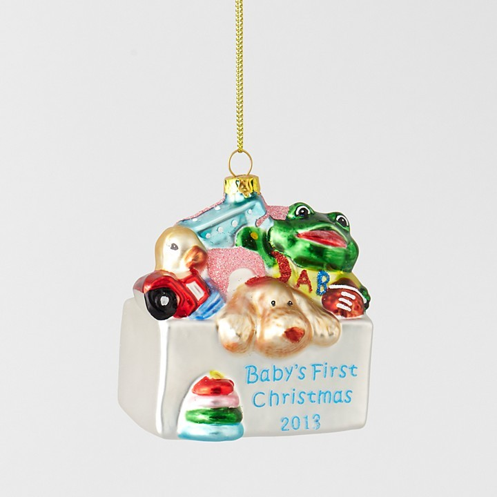 Bloomingdale's Baby's First Christmas Ornament