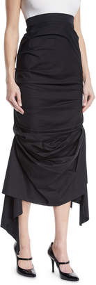Awake High-Waist Gathered Cotton Skirt
