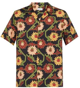 Saturdays NYC Canty Peony Print Shirt - Mens - Red Multi