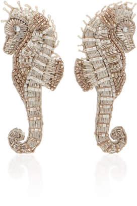 Mignonne Gavigan Seahorse Beaded And Swarovski Crystal Earrings