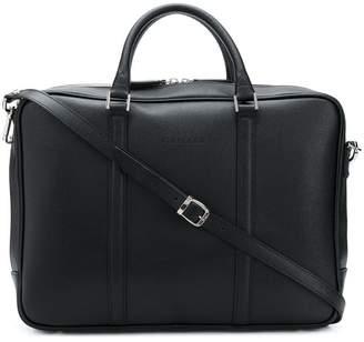 Canali logo embossed laptop bag