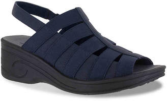 b9afdfc39bf8 Easy Street Shoes Blue Strap Women s Sandals - ShopStyle