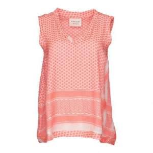 Cecilie Copenhagen - Bright Pink V Neck No Sleeves Shirt - L - Pink