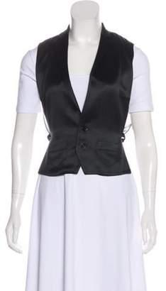 Ralph Lauren Purple Label Silk Button-Up Vest Black Silk Button-Up Vest