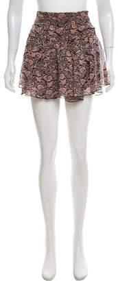 Isabel Marant Floral Print Mini Skirt