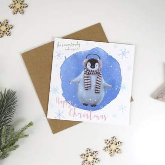Design Studio Jeeves & Co. Personalised Penguin Christmas Card
