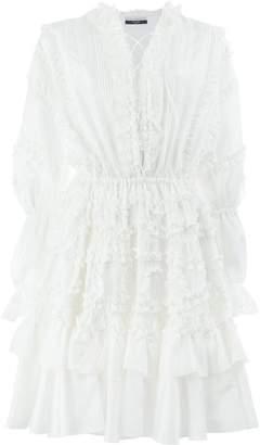 Faith Connexion ruffle lace-up dress