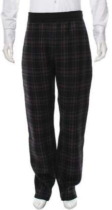 Lanvin Plaid Paneled Sweatpants w/ Tags