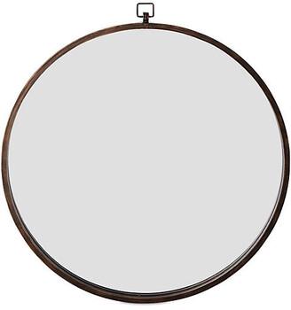 """One Kings Lane Quinn 36"""" Wall Mirror - Antiqued Bronze"""