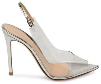 Gianvito Rossi Transparent Peep Toe Slingback Sandals