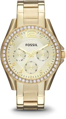 Fossil Women's ES3203 Riley -Tone Stainless Steel Watch with Link Bracelet