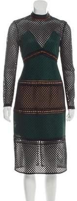 Self-Portrait Midi Mesh Dress