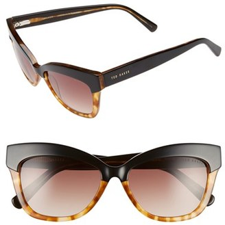 Women's Ted Baker London 55Mm Cat Eye Sunglasses - Black/ Tortoise $149 thestylecure.com