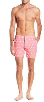 Trunks Mosmann Australia Palm Tree Print Tailor Made Swim Shorts