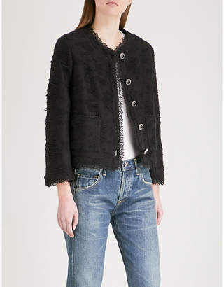 The Kooples Square-cut jacket with lace braid