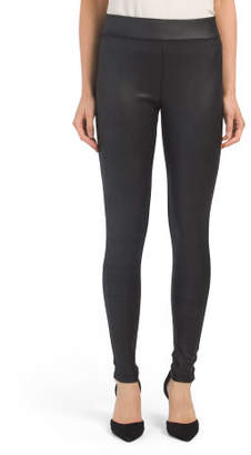 Made In Usa Faux Leather Front Leggings