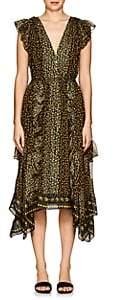 Ulla Johnson Women's Aurelie Floral Silk Midi-Dress - Black