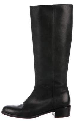 Salvatore Ferragamo Leather Knee-High Boots
