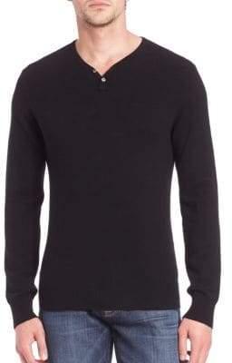 Saks Fifth Avenue MODERN Wool & Cashmere Henley Sweater