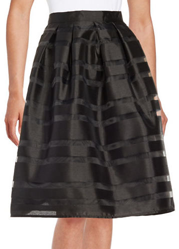 Marina Pleated Striped Skirt