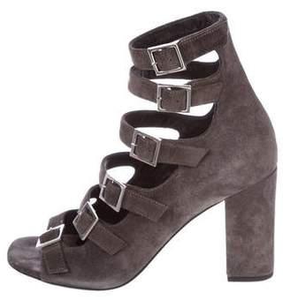 Saint Laurent Suede Multistrap Sandals