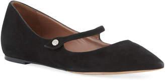 Tabitha Simmons Hermione Suede Mary Jane Flats