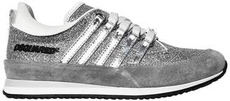 DSQUARED2 Glitter & Patent Leather Sneakers