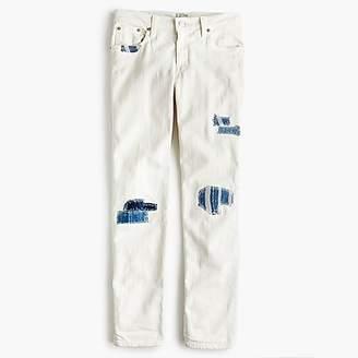J.Crew Sean Hornbeak for slim boyfriend jean with indigo patches in white
