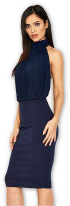 AX Paris Ruched Front Halter neck Dress