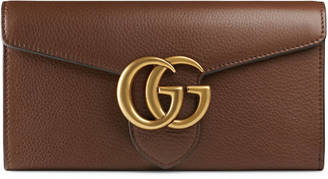 GG Marmont continental wallet $620 thestylecure.com