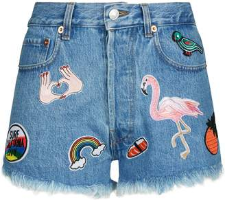 Couture Forte Denim Patch Shorts
