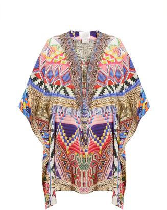 CAMILLA Dream Weavers-print silk kaftan $414 thestylecure.com