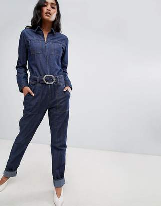 Pepe Jeans Denim Jumpsuit with Belt