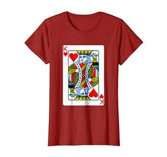DAY Birger et Mikkelsen King of Hearts T Shirt Playing Card Halloween Costume