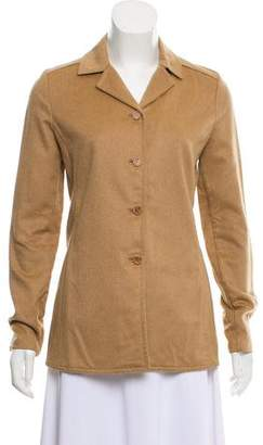 Prada Camel Hair Notch-Lapel Blazer