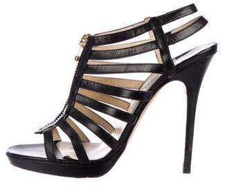 Jimmy Choo Leather Caged Sandals