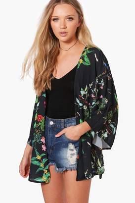 boohoo Floral Print Kimono