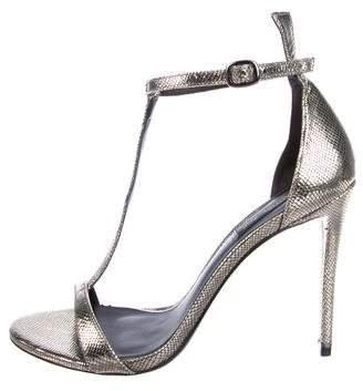 Rachel Zoe Metallic Suede Sandals