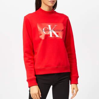 Calvin Klein Jeans Women's Monogram Satin Box Sweatshirt