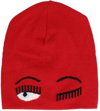 Chiara Ferragni Red Wool Hat