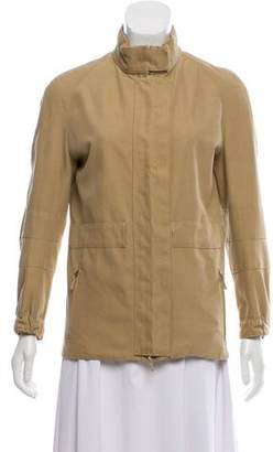 Burberry Mock Neck Long Sleeve Jacket