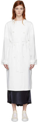 Acne Studios White Anghelica Trench Coat
