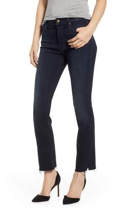 Mother The Rascal Raw Hem High Waist Ankle Snippet Jeans