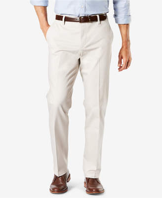 Dockers New Signature Lux Cotton Creased Straight Fit Stretch Khaki Pants D2